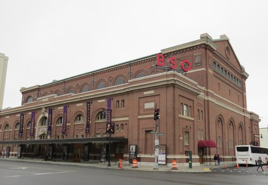 Symphony Hall: An outside view of the hall