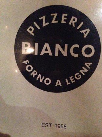 Pizzeria Bianco: menu cover