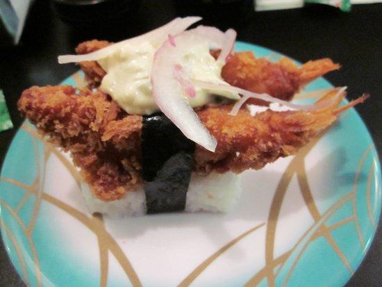 Yuu Sushi Train: fried shrimp
