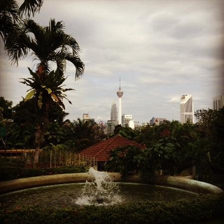 The Hibiscus Park: view from the park