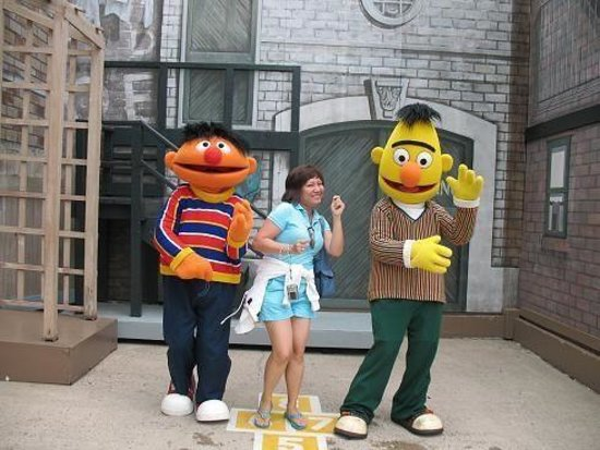 dancing with bert and ernie picture of sesame place langhorne