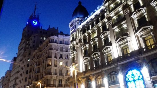 Madrid, Spain: Amazing  buildings and streets.  Lightning is superb.  Gran Vía is the most exciting Avenue in E