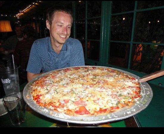 Oregano's Pizza Bistro: 18 inch spicy meat pizza