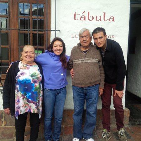 Tabula: Family at Front Entrance
