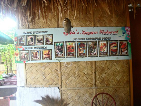 Cagbalete Island, Filipiny: Menu