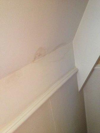 Alderley Edge Hotel : leak stained wall