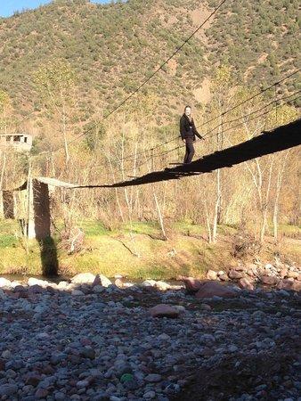 Auberge Le Maquis: pont au dessus de l'oued