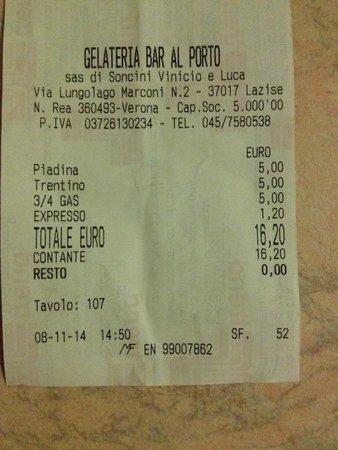 Gelateria Bar Al Porto: Ladri