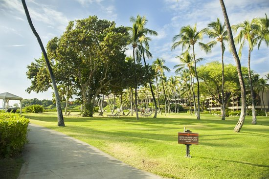 Mauna Kea Beach HI. This area reserved for guests of resort.