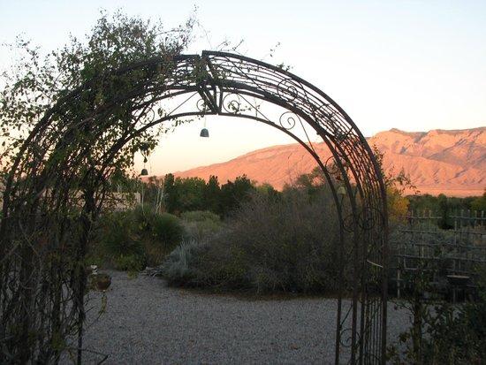 Corrales, NM: View of Sandia Mountain
