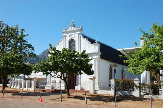 Stellenbosch Town Hall: Church in Stellenbosch square