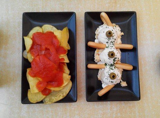 Los Troncos Taberna: Patatas bravas y ensaladilla rusa