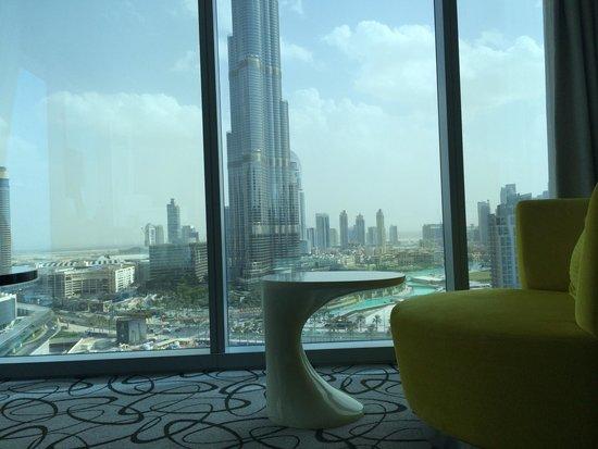Corner room with burj khalifa view picture of sofitel for Best hotel rates in dubai