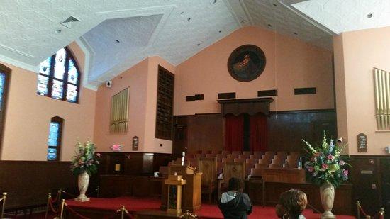 Ebenezer Baptist Church of Atlanta: The interior of Ebenezer original church.