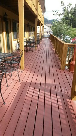 BEST WESTERN Rivers Edge: Our deck...
