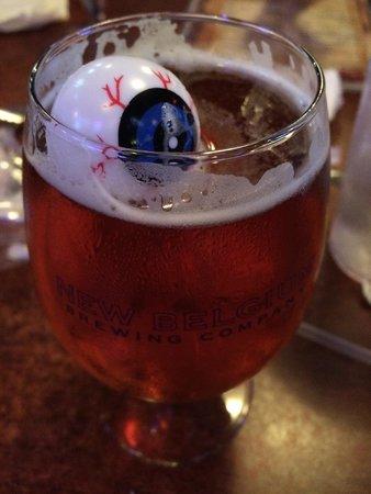 Dreamland BBQ: Amazing beers! Halloween floating eyes!