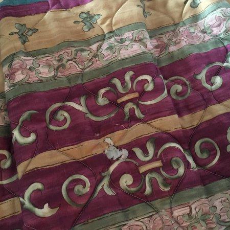 Days Inn Natchez: Burn holes on bed