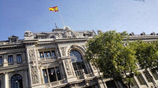 Madrid, Spain: Banco de España en calle Alcalá