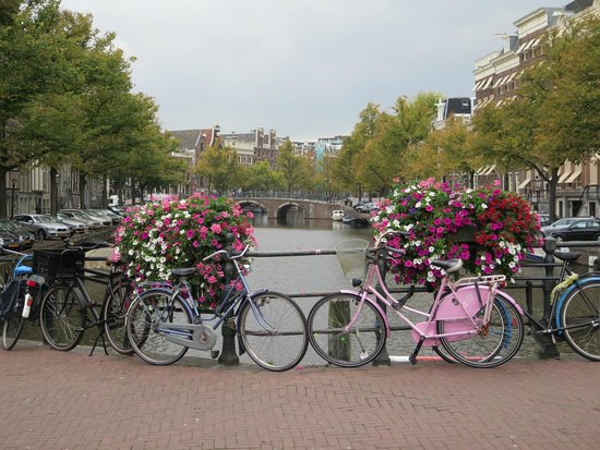 N29: Amsterdam is: Canals, flowers, bicycles