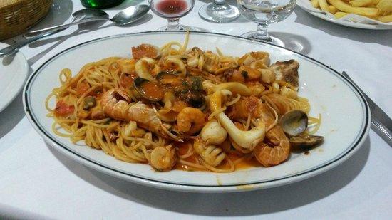 Pizzeria Laguna Blu: Spaghetti al cartoccio