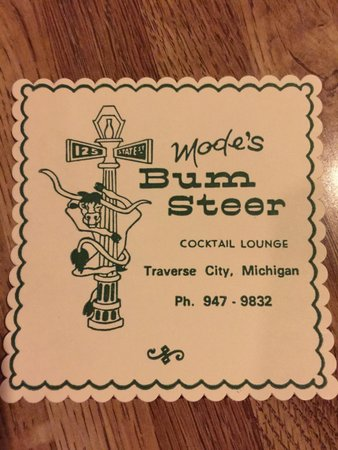 Mode's Bum Steer : Cocktail Lounge coaster! Class up the a$$! Love this place in TC!