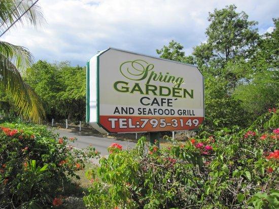 Spring Garden Seafood & Steakhouse: Sign up an incline in vegitation