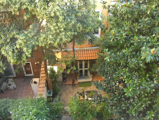 Lazy Night Guesthouse: patio trasero