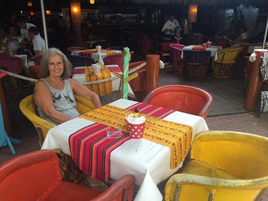 La Vagabunda: Mom at our table