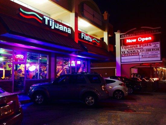 Tijuana Flats: Outside at night