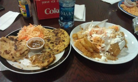 Latino's Taste: Pupusas and Fried Yucca