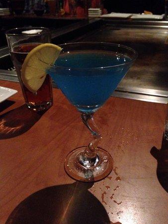 Sakura Japanese Steakhouse: Blueberry Martini. Delicious!