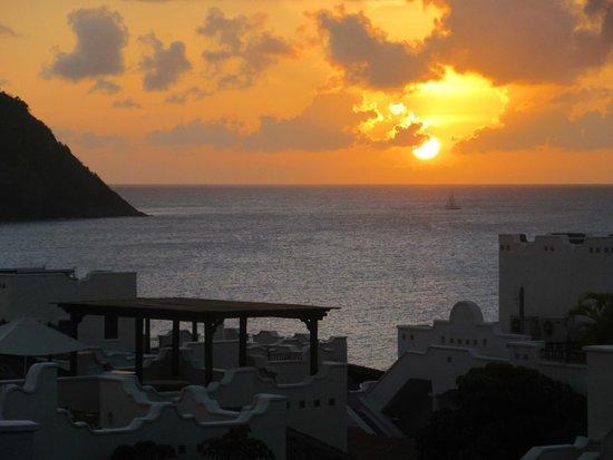 Cap Estate, Saint Lucia: sunset from villa terrace