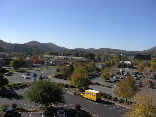 Holiday Inn Express Boone: the view from our hotel room