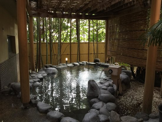 Mizu no To : Outdoor part of one of the 2 onsen.