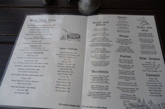 Roadhouse Cafe Menu Kathmandu