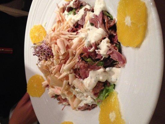 Sabor: Salade canard confit , lamelles de foie gras