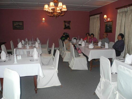 Hill Club Restaurant: Private room setting that night