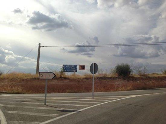 La Aguzadera: En plena carretera