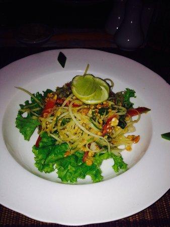 Star Beam : Papaya salad delicious