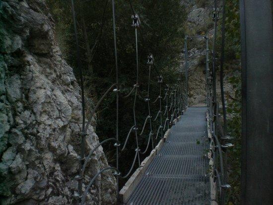 Castril De La Pena, Spain: El puente colgante