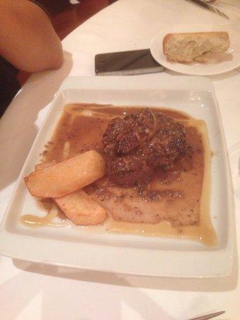 Chef Nino : Solomillo con foie y salsa de setas