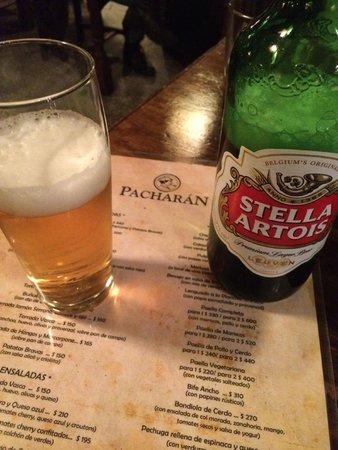 Pacharan Taberna Vasca: a cerveja não estava gelada