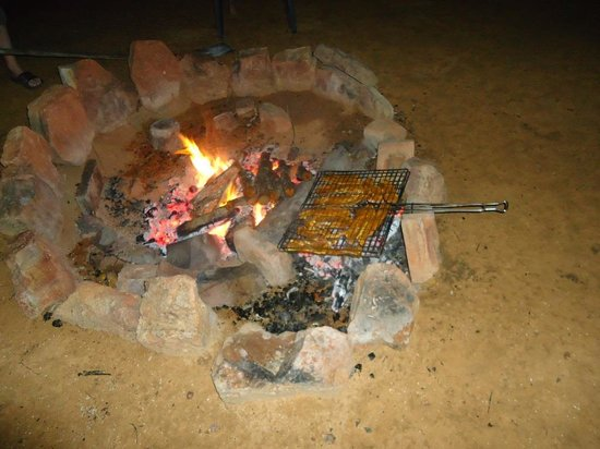 """Ama Amanzi Bush Lodge: Heerlijk eten van de """"braai"""""""