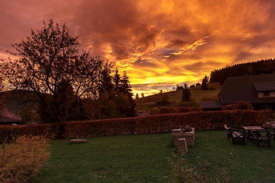 Breggers Schwanen: Sonnenaufgang am Hotel Breggers/Schwanen