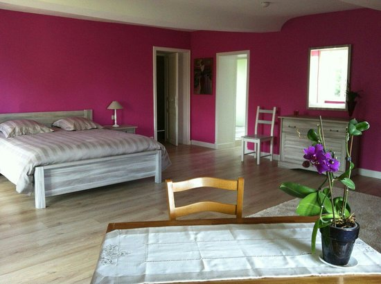 La chambre rose la plus grande chambre de la maison picture of au magnolia trois monts for Chambre bois de rose