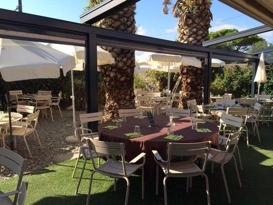Brasserie Les Touristes: Nouveau jardin du restaurant
