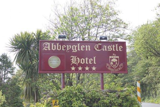 Abbeyglen Castle Hotel: Sign