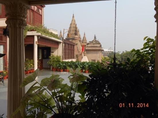 Hotel Ganges View : Blick von der Terrasse