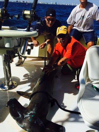 Lady Pamela II Sportfishing : 8' Hammerhead ready to go back in the drink