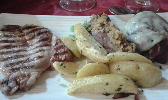 Rifugio Francesco Crispi: Ottimo tris di carne